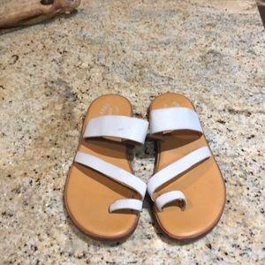 Kork ease white sandals 8m